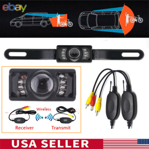 2.4G Car Wireless Reverse Rear View 7 IR Night Vision Parking Cam Backup Camera $21.99