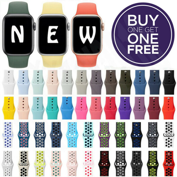 Silicone Band Strap For Apple Watch iWatch Sports Series 12345 38424044mm