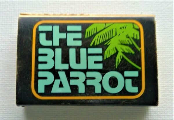Matchbox from THE BLUE PARROT an Iconic 70's Bar in Los Angeles! VERY RARE!
