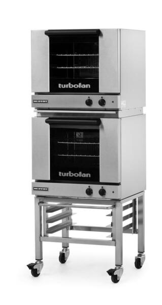 Moffat E23M3 2C Electric Convection Oven Half Size 3 Pan Mobile Stand