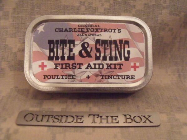 General Charlie Foxtrot#x27;s ALL NATURAL quot;Bite amp; Sting First Aid Kitquot; w Metal Tin $19.95