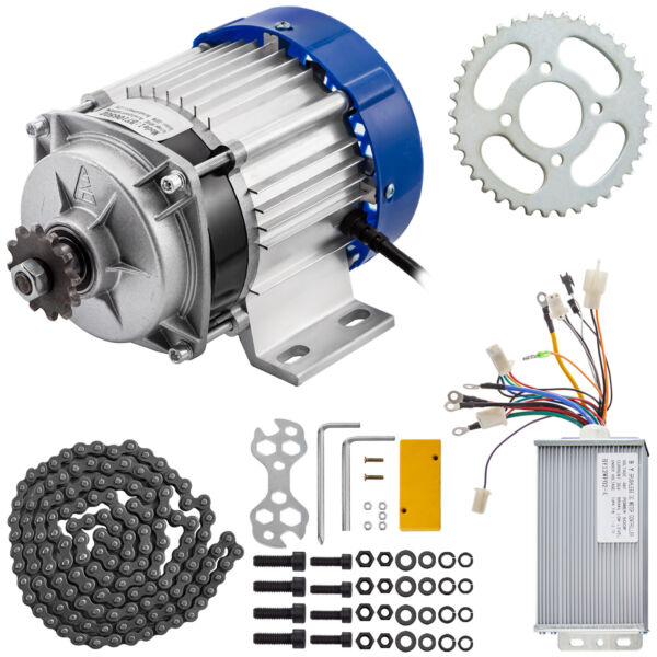 48V Brushless Electric Motor Controller Chain 500W Powerful Permanent Magnet $107.97