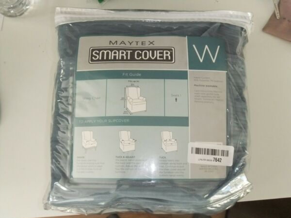 Maytex Smart Cover Wing Chair Light Blue Slipcover $11.96