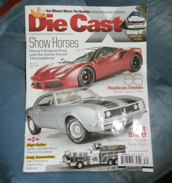 Die Cast X magazine Winter 2017 Show Horses excellent condition
