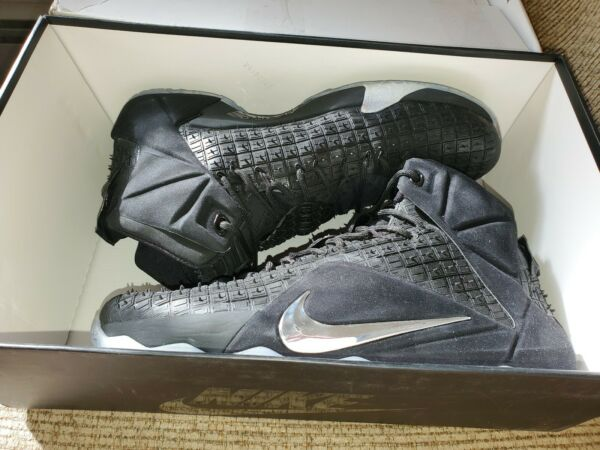 100% Authentic Nike Lebron XII Ext! Rc Qs Rubber City! Size 12 Ds New In Box!