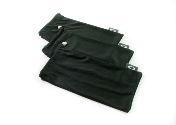 OAKLEY 3 PACK LARGE BLACK MICRO FIBER CLOTH SUNGLASSES CLEANING STORAGE BAGS $14.39