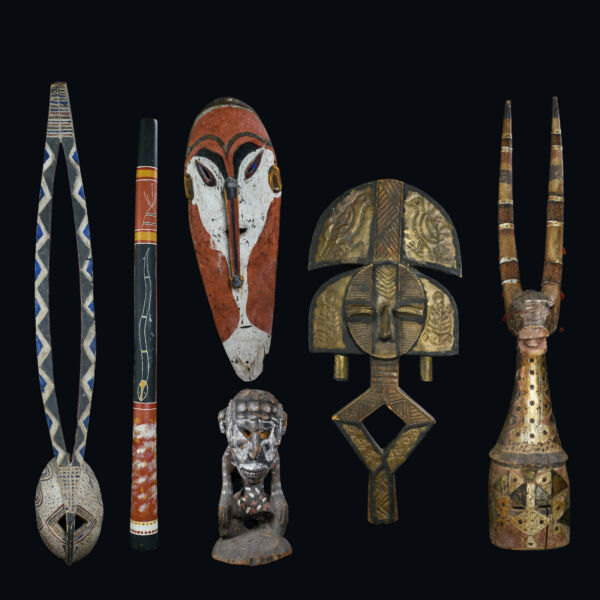 African Masks Ancestral StatueReliquary all with an amazing history.....