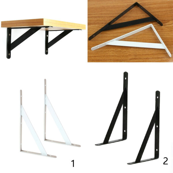 1 Pair of Heavy Duty L Shape Wall Shelf Support Bracket DIY Rack Supporter Stand $9.57
