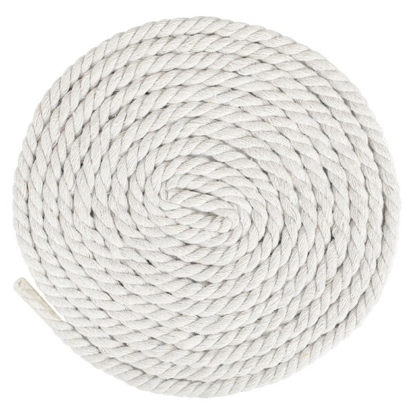 1 4 inch 10 200ft Natural Twisted Cotton Rope 3 Strand Cord Twine Macramé Knots