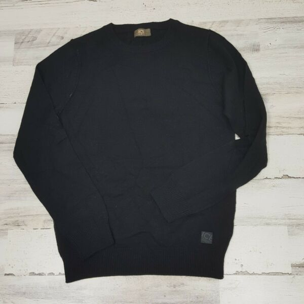 Ice Iceberg Women Wool Sweater Pullover Black NWT Size Small $49.97