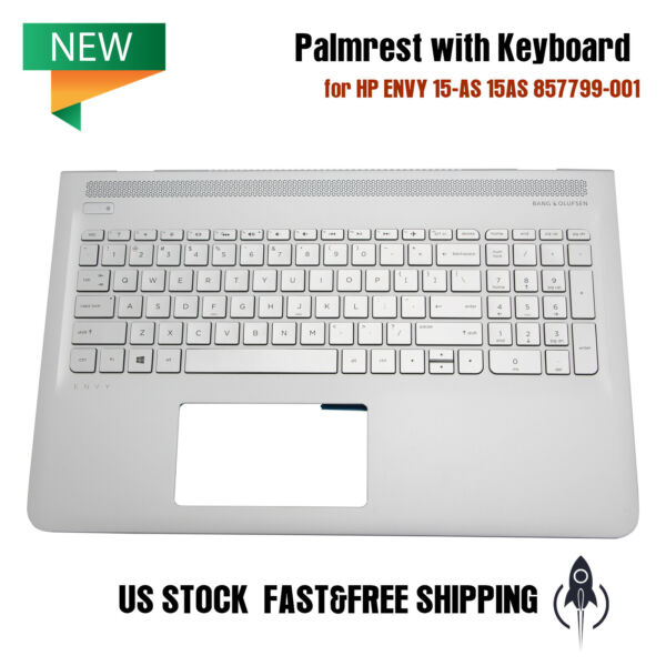 NEW Palmrest with Keyboard Silver for HP ENVY 15 AS 15AS 857799 001 6070B1018801