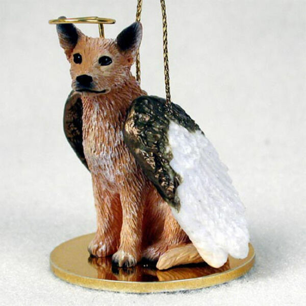 Australian Cattle Dog Ornament Angel Figurine Hand Painted Red $14.99