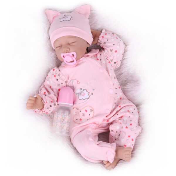 22'' REBORN BABY DOLLS REAL LIFE LIKE LOOKING NEWBORN BABY GIRL DOLL+CLOTHES TOY