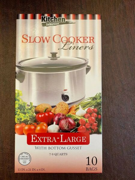 Kitchen Collection CROCK POT LINERS Slow Cooker Extra Large 7 8 Quarts 10 Pack
