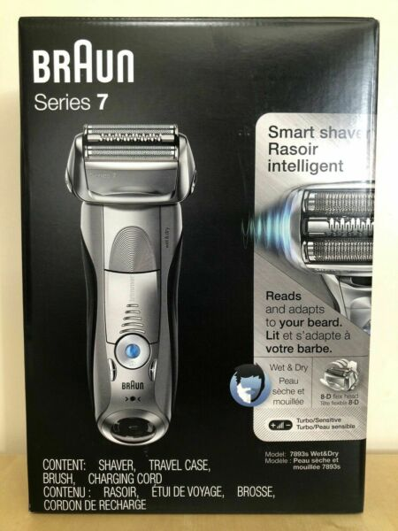 Braun Series 7 7893s Electric Shaver Wet & Dry RechargeableCordless Razor