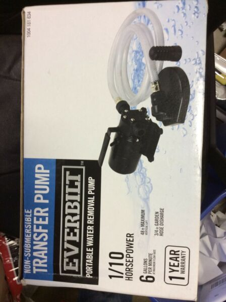 Everbilt 110 HP 6-GPM Non-Submersible Self-Priming Water Transfer Pump