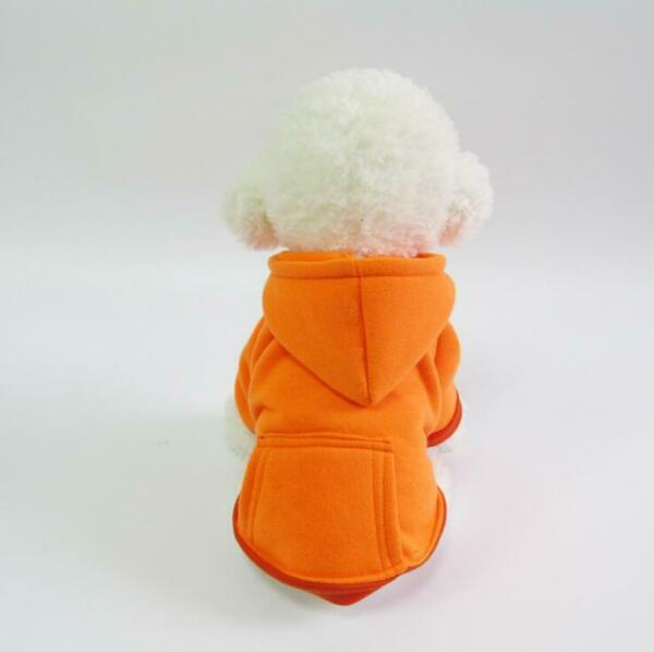Pet Dog Sweater Soft Dogs Poodles Clothes Sports Warm Hoodie Jumper Coat Apparel $19.44