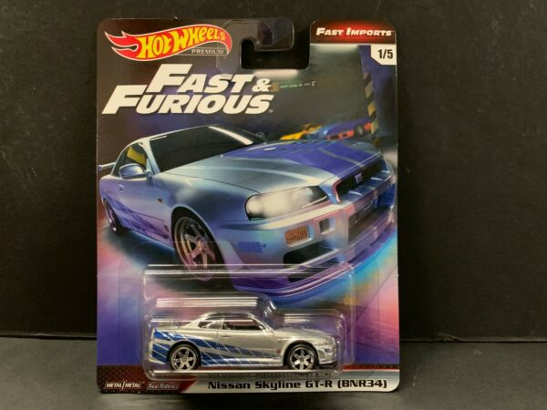 Hot Wheels Nissan Skyline R34 Brian's Car Fast and Furious 164 GBW75-956A