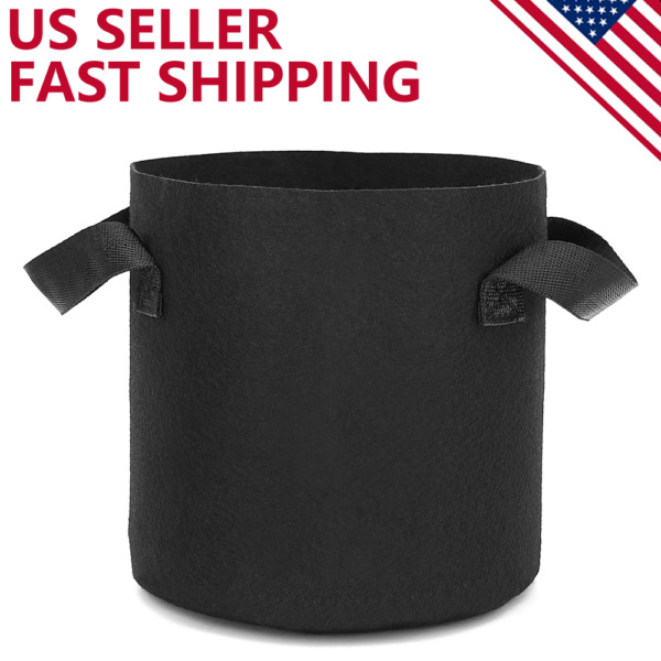 6 Pack Grow Bags Garden Heavy Duty Non-Woven Aeration Plant Fabric Pot Container