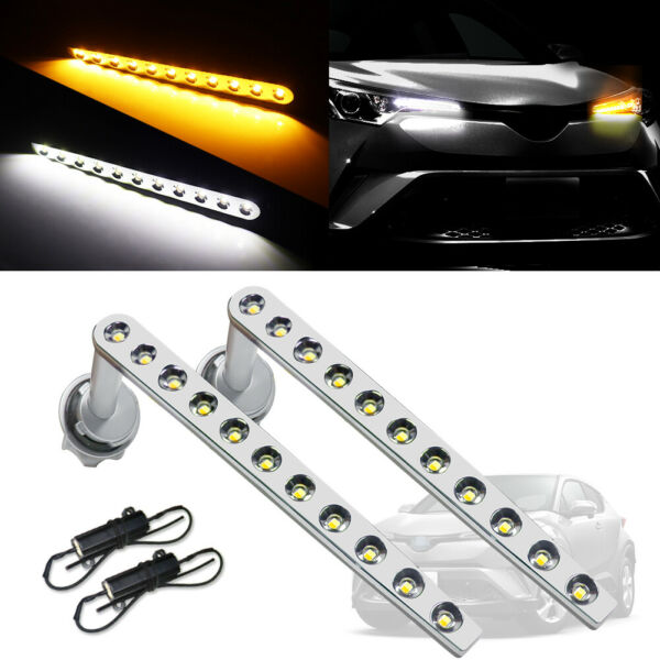 2X Switchback LED DRL&Sequential Turn Signal Lights Kit For 2017-up Toyota C-HR