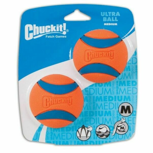 """Chuckit! Ultra Ball for Dogs 2 Pack Mediumsmall Dogs CS19260A. 2.5"""" Floats $11.99"""
