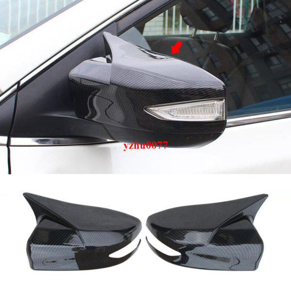 2016 19 For Nissan Maxima Carbon Fiber look ox horn Rear view mirror cover trim $64.63