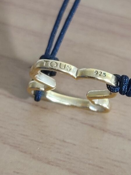 TOUS Sweet Dolls bracelet in  Gold Vermeil  and Black cord 🌺