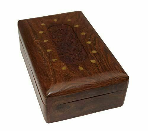 OM SHRI OM Handmade Decorative Jewelry Box Trinket Organizer Table from India