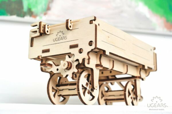 UGears Tractor Trailer 3D Puzzle Mechanical Wooden Model Kit DIY Self Assembly $19.90