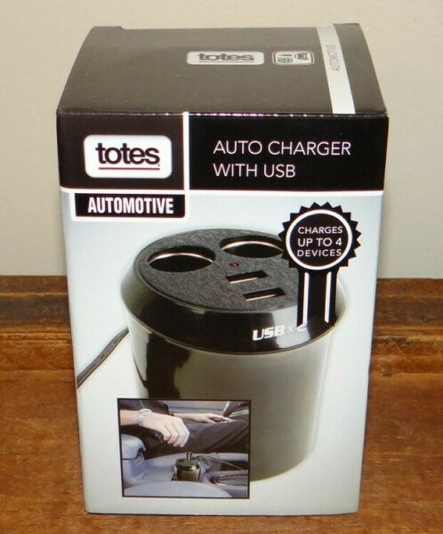 Totes Auto Charger with USB Charges up to 4 Devices at Once $11.95