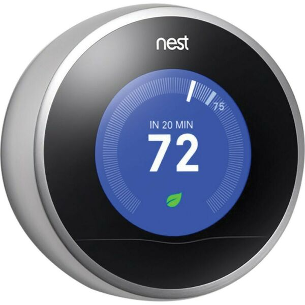 REPLACEMENT PART: Nest 2nd Generation Learning Thermostat Stainless Steel READ $89.95