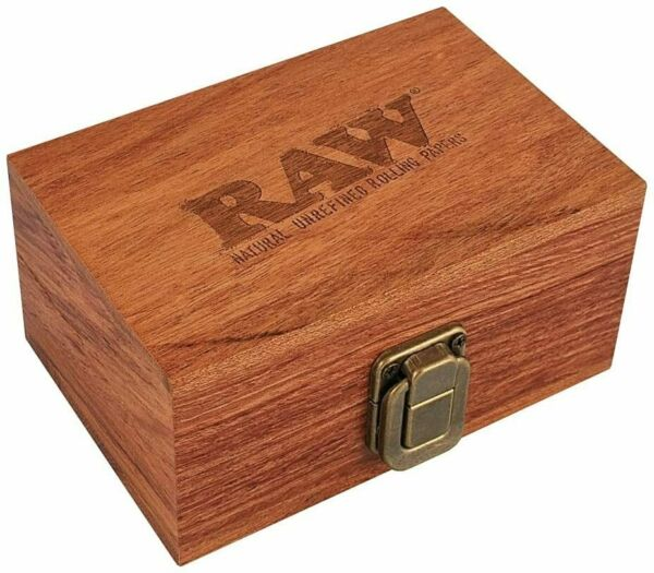 Raw Maple Wood Box Rolling Paper Storage Stash Grinder Cones Tips 3.5quot; x 5quot;
