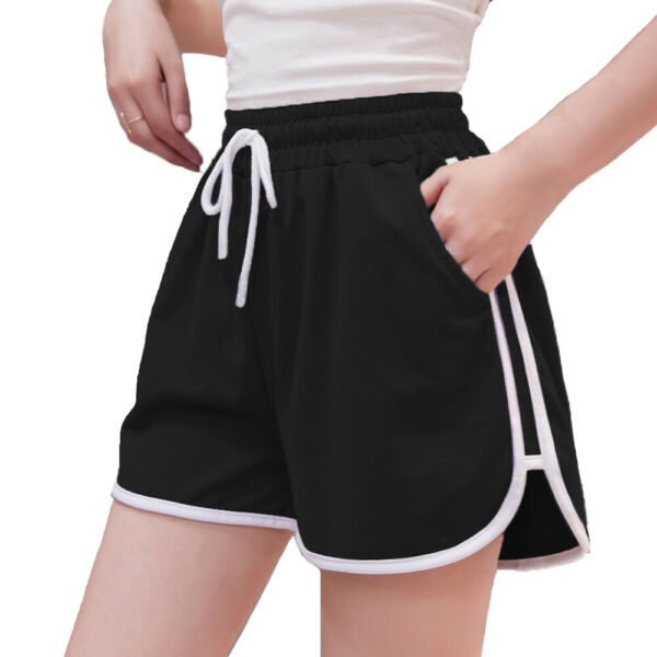Women Summer Yoga Shorts Drawstring Athletic Gym Fitness Workout Sport Hot Pants $15.57