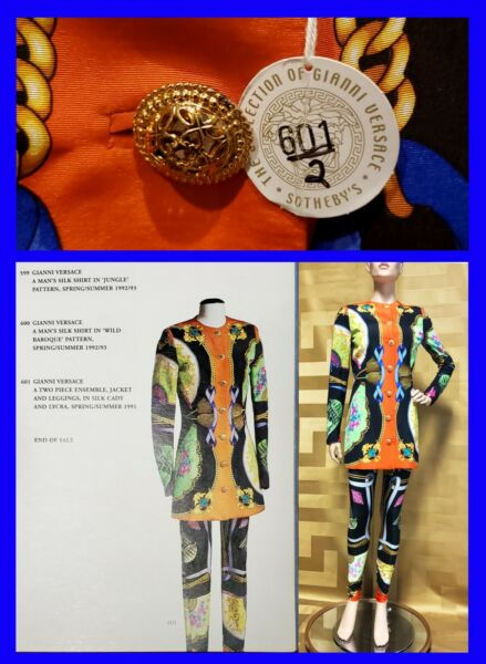 SS 91 GIANNI VERSACE's ARCHIVE JACKET and LEGGINGS IN SILK CADY and LYCRA 38-2