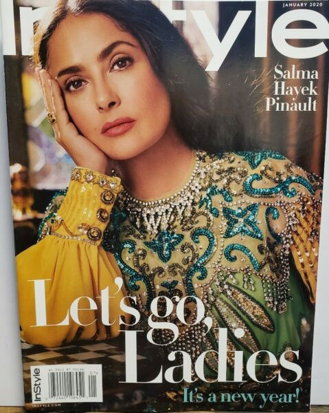 In Style Jan 2020 Salma Hayek Pinault Let's Go Ladies FREE SHIPPING CB