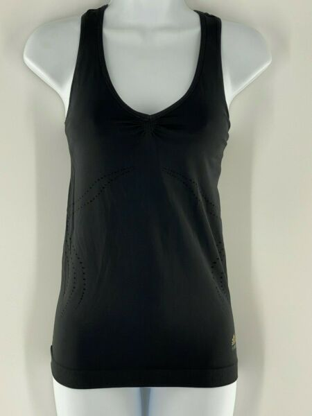 ADIDAS Active Athletic Racerback Fitness Black Running Tank Top Women Medium