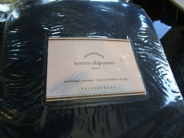 Pottery Barn Torrey blue slipcover sectional corner ink blue New in package $116.99