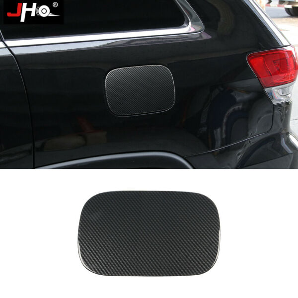 Carbon Grain Gas Oil Tank Overlay Cover Trim For Jeep Grand Cherokee 2011 2020 $23.50