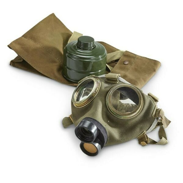 Used Hungarian M76 Military Surplus Gas Mask with 40mm Filter and Bag Survival $29.99