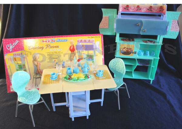 Join n Joy Home Dining Room DOLLHOUSE FURNITURE SIZE Plates Table PLAY SET