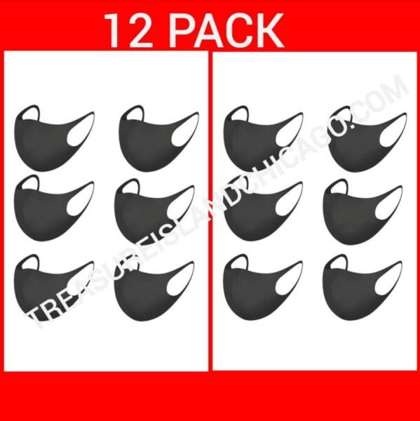 WASHABLE BREATHABLE FACE MASK (12Pack)  Reusable Unisex Adult MASK US SELLER