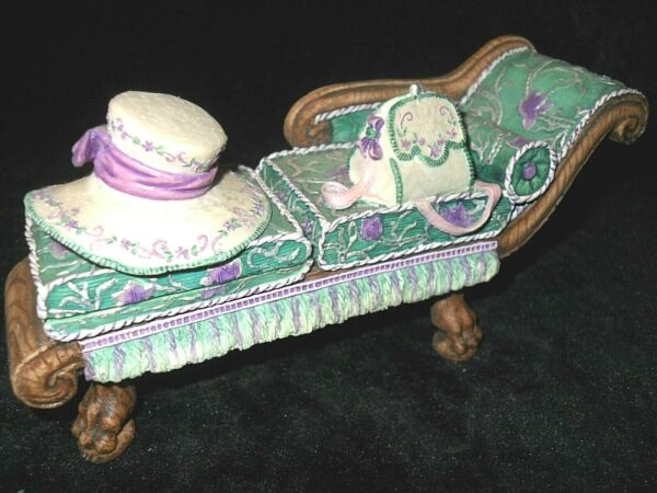 WILLOW HALL Miniatures CHAISE LOUNGE Ceramic FURNITURE Women's Accessories $10.00