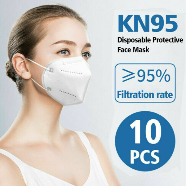 10pcs KN95 Face Mask Disposable Covers Mouth Nose Protective 5 Layer $4.88