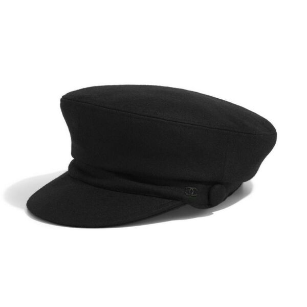 CHANEL PARIS HAMBURG BLACK SAILOR CAP L