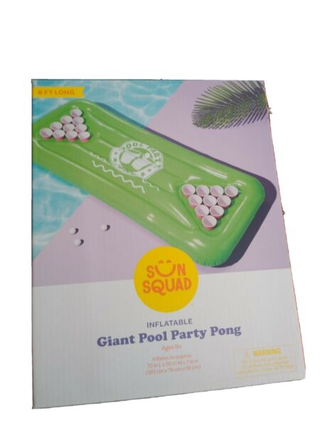 Sun Squad Party Pong Pool Float Swim Raft Green Giant Size 10 sets available $17.90