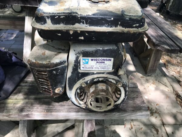 Vintage Bartell Wisconsin Robin Air Cooled Small Engine Motor WI 185 For Par $150.00
