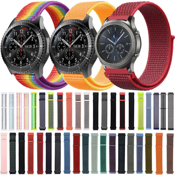Loop Nylon Watch Band Strap for Garmin Vivoactive3 4Vivomove HR Forerunner645