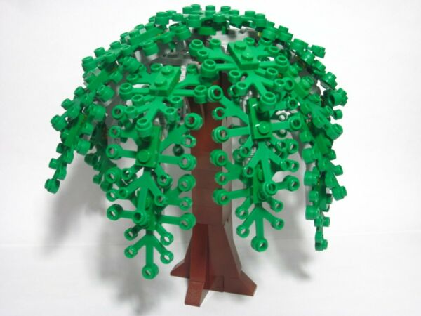 Custom forest tree for LEGO weeping willow with green leaves all new parts