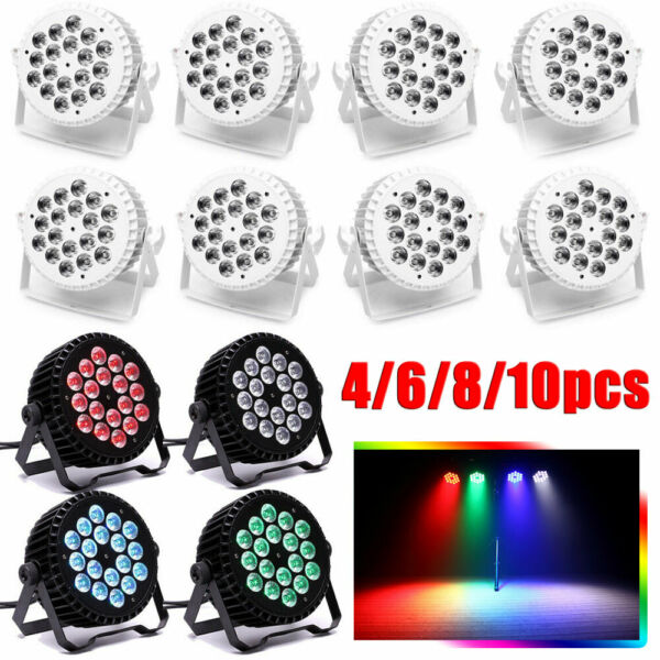 200W RGBW 18LED PAR CAN Color Mixing DJ Stage Lighting DMX512 Wedding Party Club