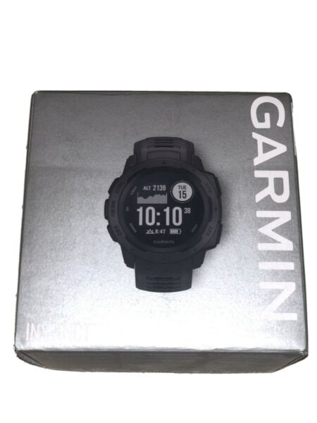Garmin Instinct Rugged GPS Smart Watch - Graphite W Original Packaging